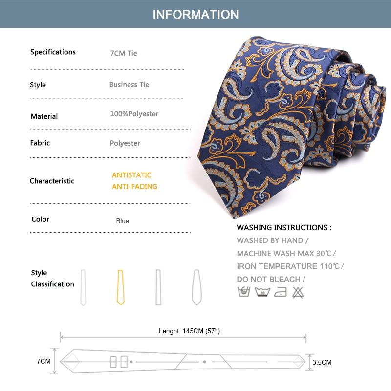 Classic Business Suit Work Necktie 2020 New 7CM Wide Tie For Men High Quality Fashion Formal Neck Tie Gentlemen Business Ties