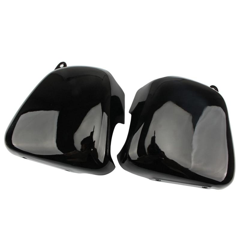 Cubierta de batería de motocicleta lado izquierdo derecho carenado cubiertas de batería negro brillante para Triumph Bonneville T100 SE Thruxton 900 Scramble