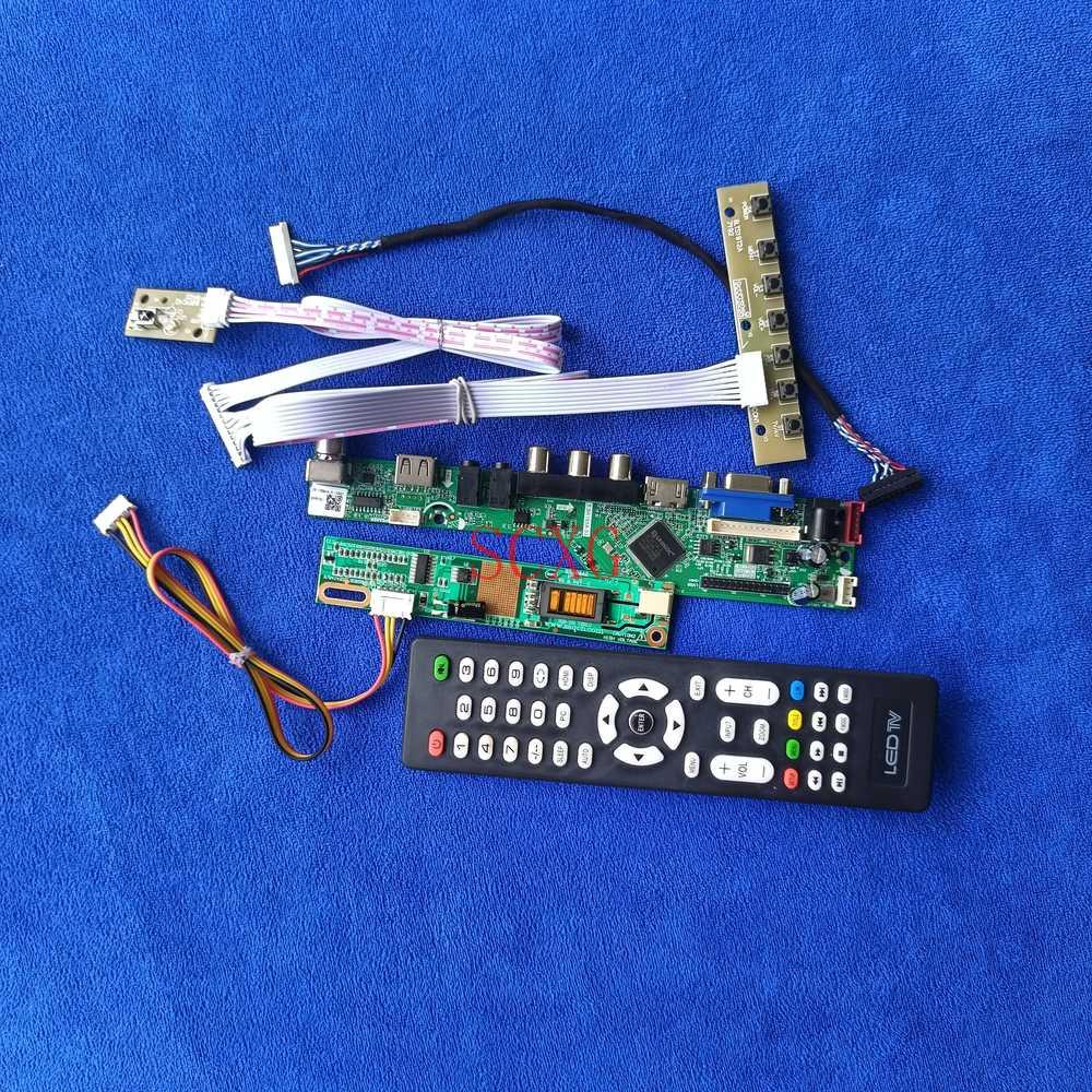 LVDS 20 دبوس VGA USB HDMI متوافق شاشات كريستال بلورية لوحة للقيادة 1CCFL 800*600 إشارة التناظرية KitFor LT121S1/LT121SS/LT121SU/TM121SV