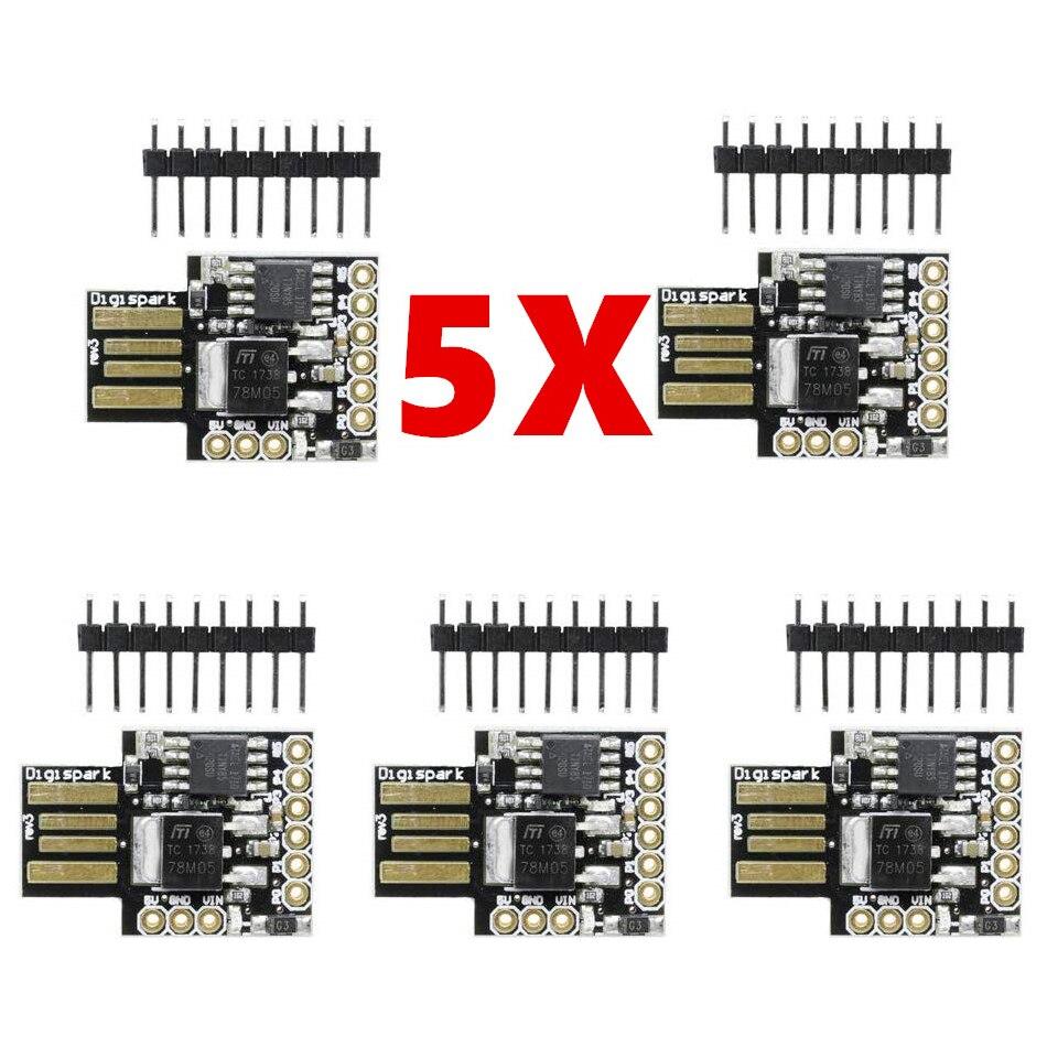 5 قطعة Digispark Kickstarter ATTINY85 لاردوينو العام المصغّر USB مجلس التنمية