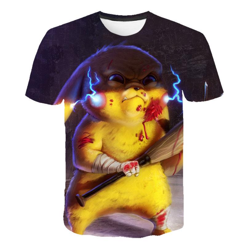 2020 Linda playera Pikachu, camiseta blanca de pokemon para niños y niñas, regalo de moda para personas, ropa de calle creativa