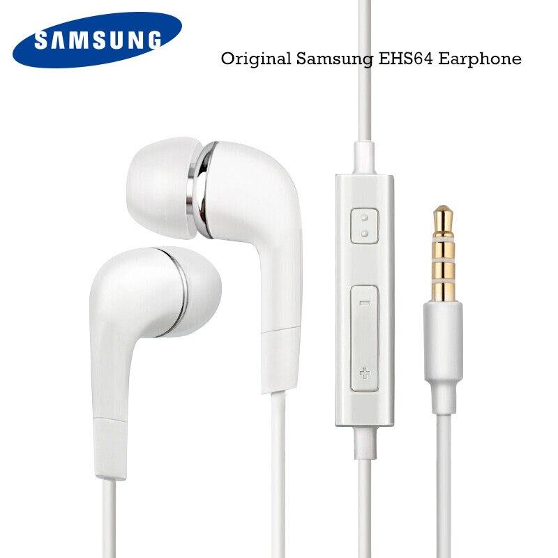 Samsung-auriculares internos EHS64, originales con micrófono incorporado y cable de 3,5mm para teléfonos inteligentes Galaxy S10, S9, S8 Plus, S10e, A30, A50, A60, A70
