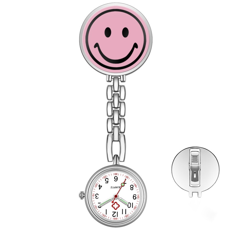 ALK Smiley NEW Nurse Watch Gift Student Hanging Watches Luminous Japanese movement Pocket Watch Nurse Clock Unisex stationary фото