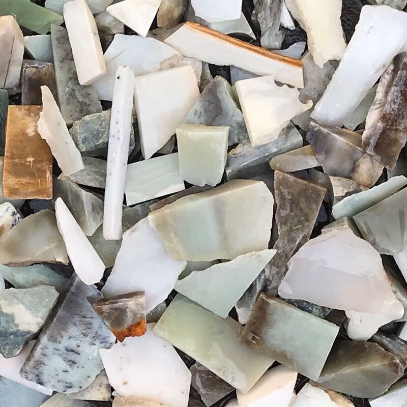 Natural Jade Leftover Bits and Pieces DIY Carving Home Aquarium Decorative Stones