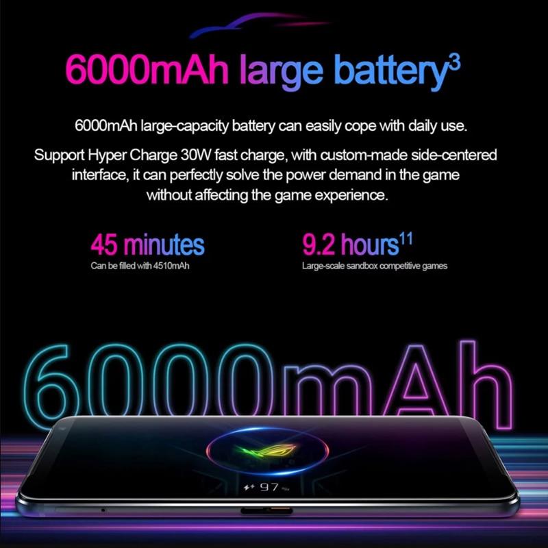 Фото2 - Смартфон ASUS ROG Phone 3, 256 ГБ, 12 Гб, 6000 мАч, 144 Гц, 64 мп