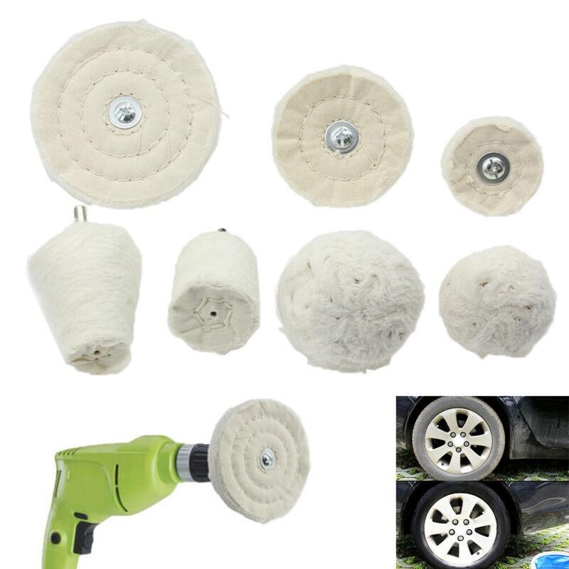 7pcs Buffing Drill Pad Mop Wheel For Motorcycle Wheel Manifold Polishing Grinding High Quality Buffing Wheel
