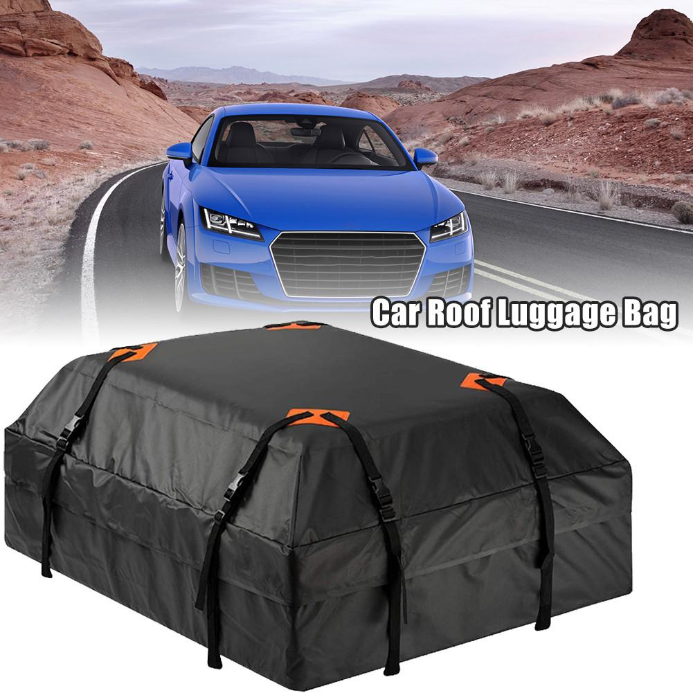 Portaequipajes para techo de coche, impermeable, Universal, bolsa de carga, almacenamiento de equipaje, bolsa de cubo para techo, furgoneta de viaje SUV para coches