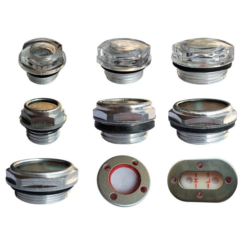 Compresor de aire 1 Uds., máquina para lente de aceite, espejo de aceite, bomba de aire, espejo de nivel de observación, accesorios para bomba de nivel de aceite