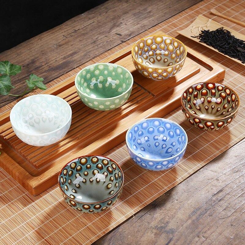 6 قطعة السيراميك Drinkware Teaware الصينية الكونغفو الشاي مجموعة فنجان أكواب أجل 50 مللي ماستر كوب صغير الشاي السلطانيات ديكور هدية