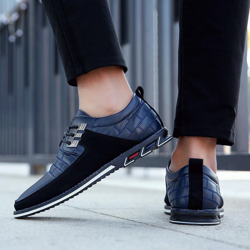 Sapatos casuais de alta qualidade dos homens sapatos casuais rendas-up sola de borracha esportes sapatos casuais sapatos masculinos de tamanho grande sapatos de tendência da juventude zapatillas hombre