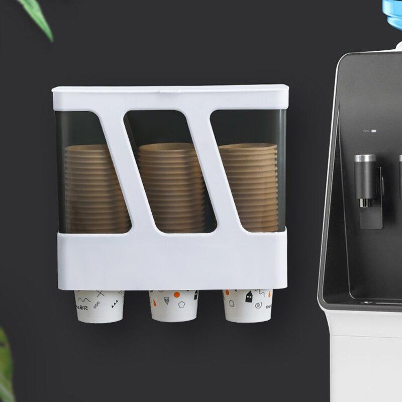 045 3 اسطوانة كوب النازع الحائط المتاح كوب حامل مشبك نوع ورقة كأس حامل ل المنزلية موزع المياه