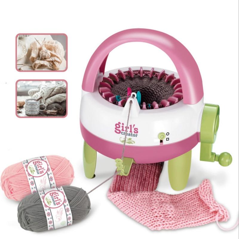 DIY Knitting Machine Children's Hand Knitting Wool Scarf Machine 22 Needle Star Cylinder Knitting Wool Machine Toys