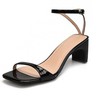 2020 Sexy Ankle Strap Heels Women Sandals Summer Shoes Open Toe Chunky Med Heel Party Dress Shoes Narrow Band Sandal New 32~46