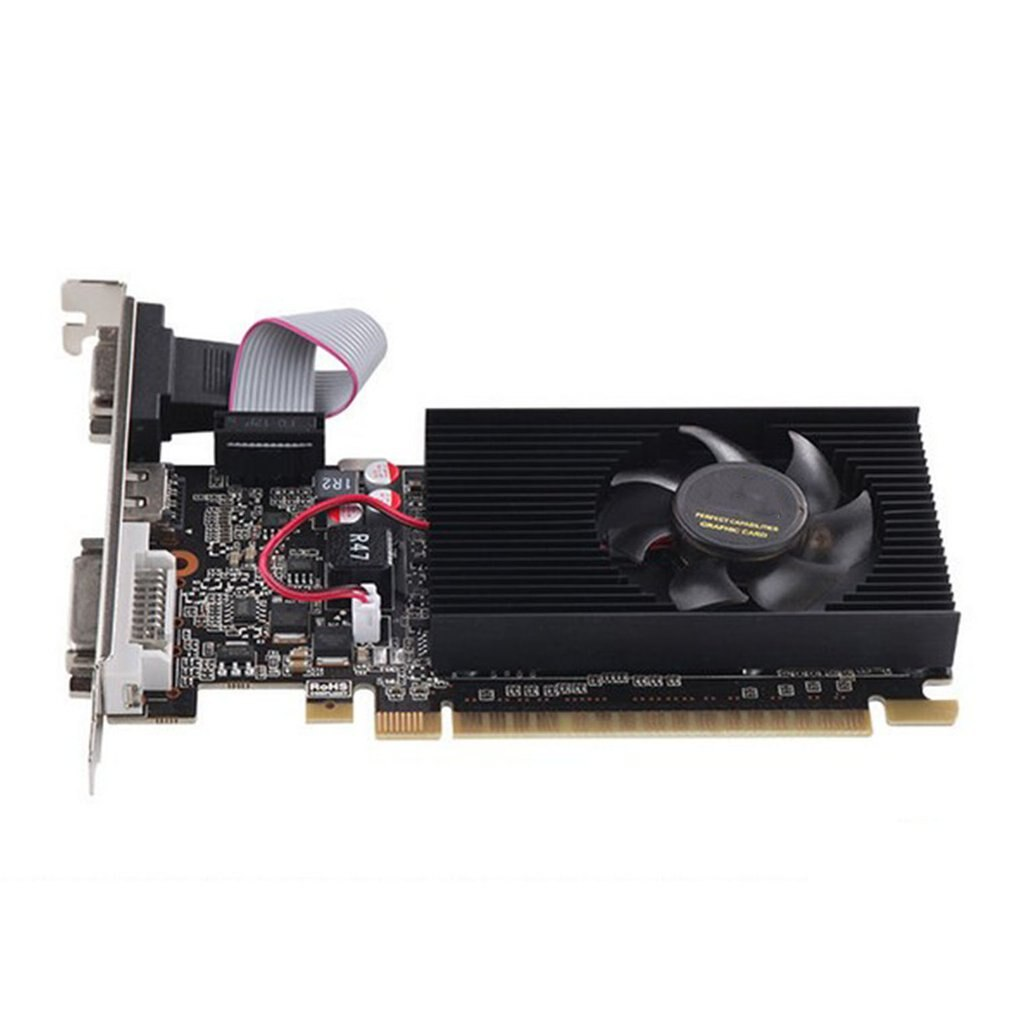 GT210 1G Dual-screen Office High Definition Graphics Half-height Knife Card Discrete Graphics For La
