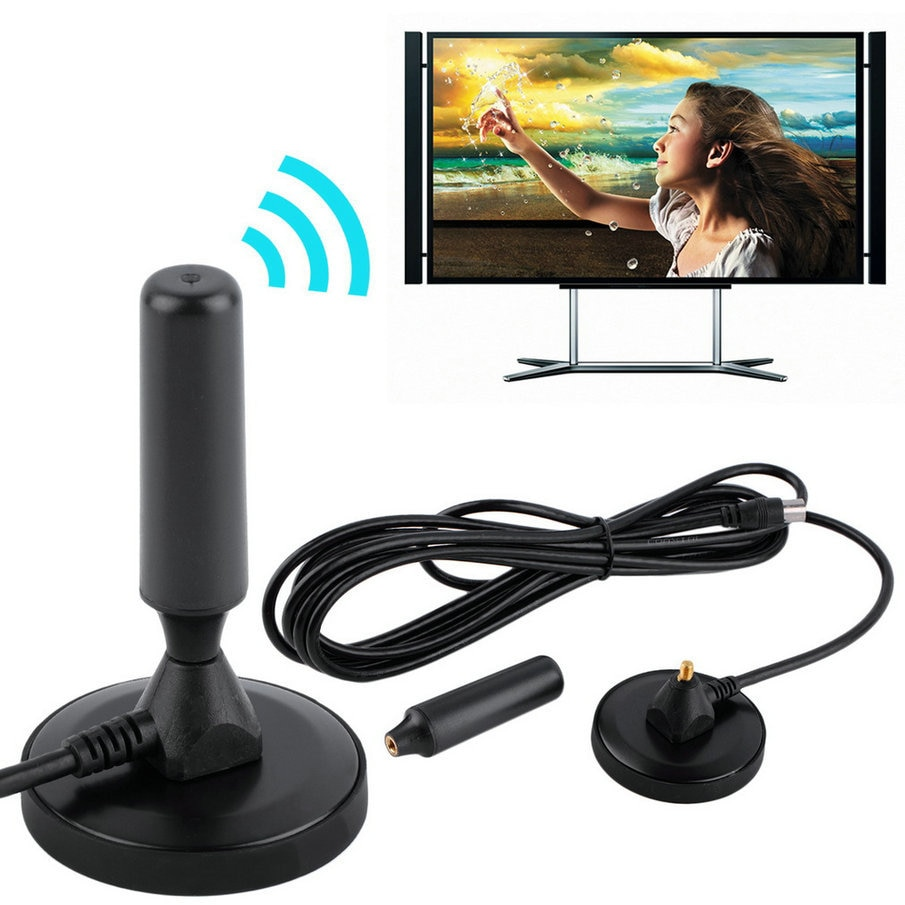 Hot Indoor Gain 30dBi Digital DVB-T/FM Freeview antena aérea PC para TV HDTV gran venta promoción