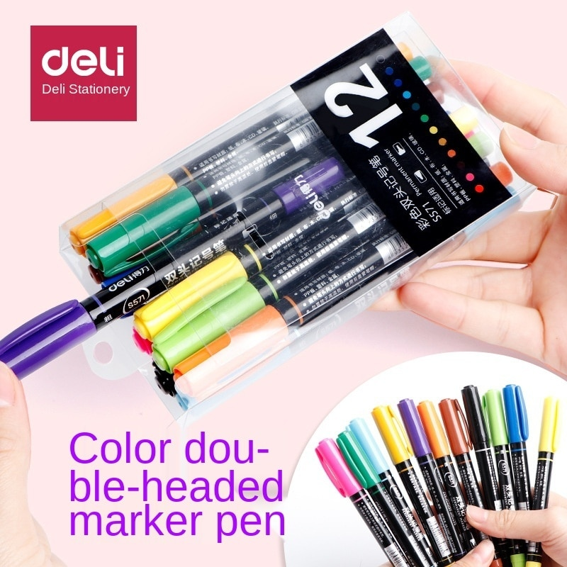 Watercolor brush pen, 24 colors, double-ended brush, art set marker, drawing pen, painting, calligraphy, art supplies colores  недорого