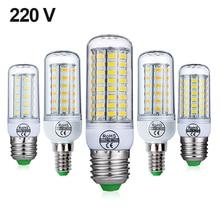 E27 LAMPE À LED E14 AMPOULE LED SMD5730 220V Dampoule DE MAÏS 24 36 48 56 69 72LED Lustre Bougie Lumière LED POUR La Décoration De La Maison