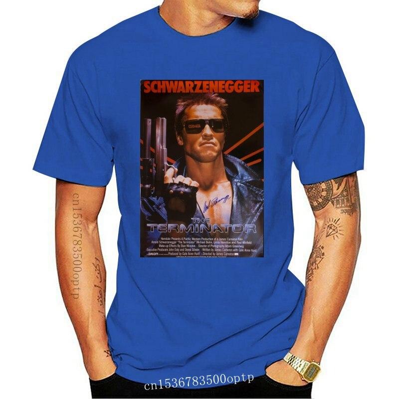 Camiseta con estampado de la película TERMINATOR, prenda de vestir, de algodón,...