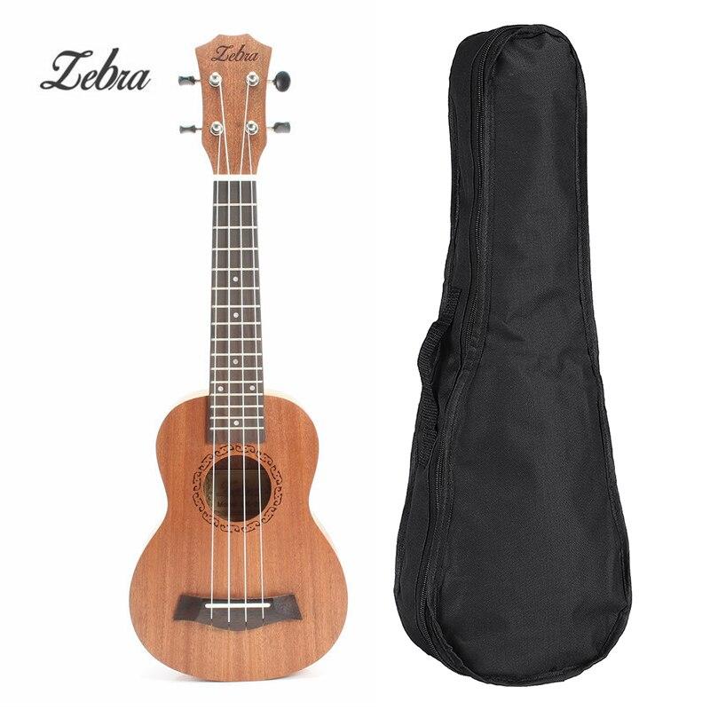 Zebra 21 pulgadas ukelele Tenor Soprano palisandro caoba 15 trastes 4 cuerdas guitarra hawaiana ukelele bolsa instrumentos musicales