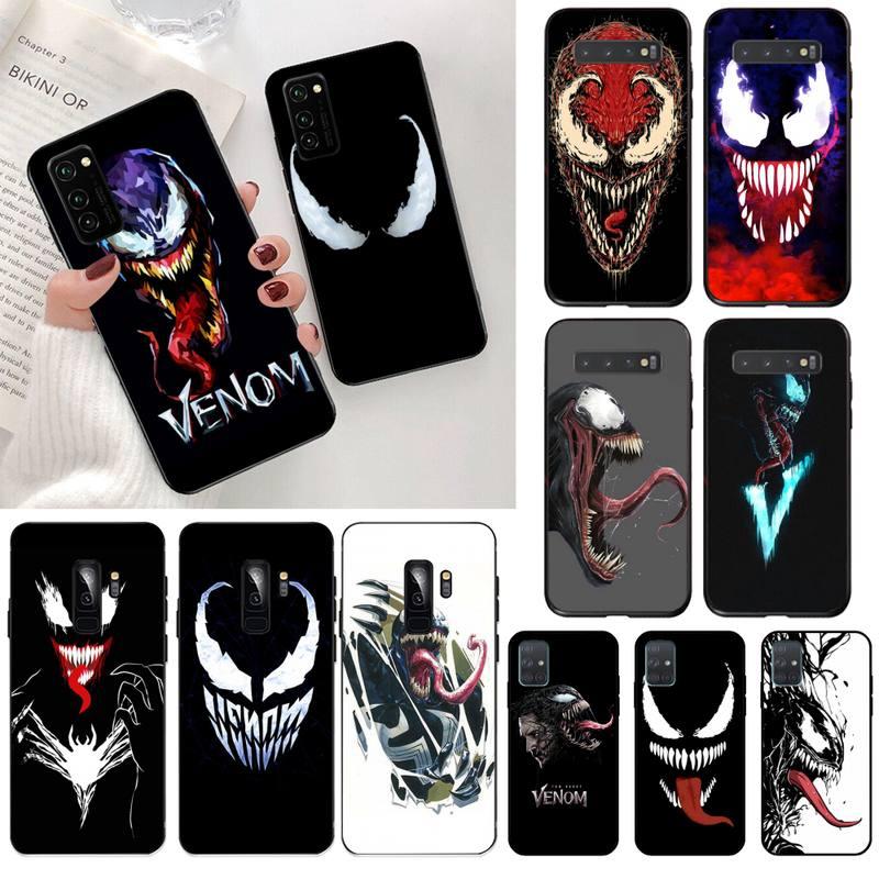 Funda de teléfono con diseño de Venom para Samsung S20 plus Ultra S7 S6 edge S8 S9 plus S10 5G lite 2020