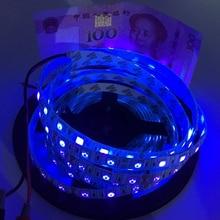 UV Led Streifen licht 5050 SMD 60 leds/m 395-405nm Uv Ray LED-Diode Band Lila Flexible Band lampe für DJ Fluoreszenz