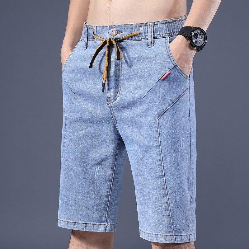 baggy jeans Men's Classic Blue Black Slim-fit Jeans Business Cotton Elastic Regular Fit Denim Pants Male Brand Trousers