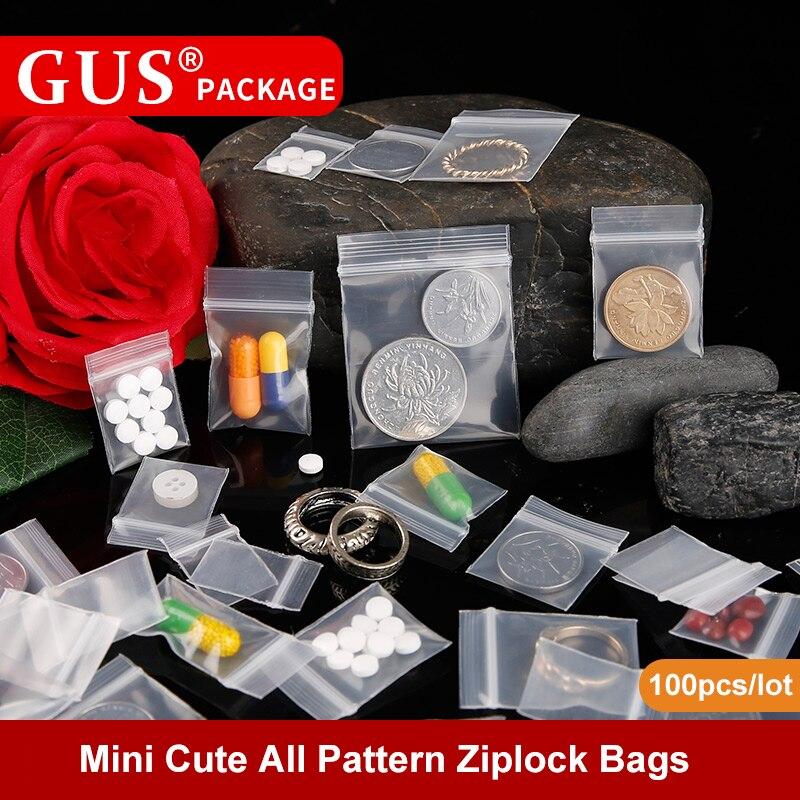 Mini bonito todo o teste padrão ziplock medicina plástica pequena amostra descartável auto-selo pílula bolso embalagem saquinho zip sacos de bloqueio