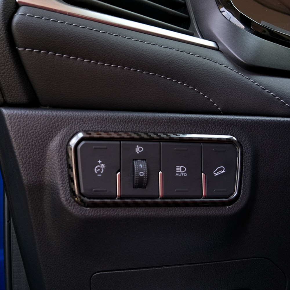 Para Haval F7 F7X 2019 2020 interruptor de faro decorativo ABS cromo botón de ajuste caja decorativa molduras interiores