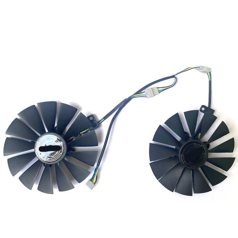 2PCS FDC10M12S9-C T129215SM 12V 0.25AMP 95MM 4PIN VGA Fan  For ASUS GTX1070TI RX580 570 STRIX RX470 O4G Gaming  Cooling Fans монитор asus tuf gaming vg27aq 27 черный