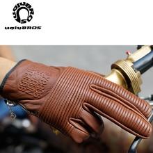 Мотоциклетные Перчатки Uglybros, перчатки из натуральной кожи, дышащие, для сенсорных экранов, для гонок, езды на мотоцикле