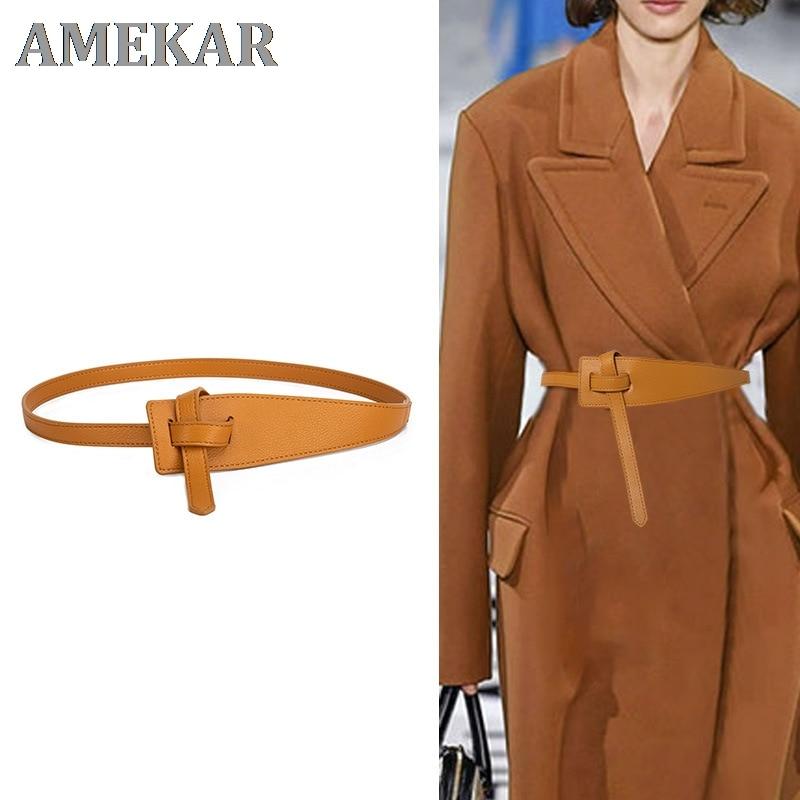 2021 New Fashion leather belts for women Simple Designer belt woman belts for dress Coat Cummerbunds