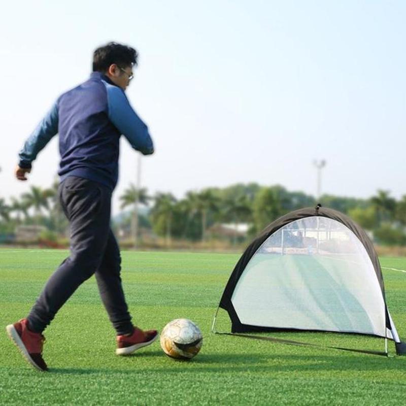 Al por mayor 5 colores de fútbol Durable red plegable objetivo de entrenamiento Toyirons marco tejidos niños de interior al aire libre Red de juego