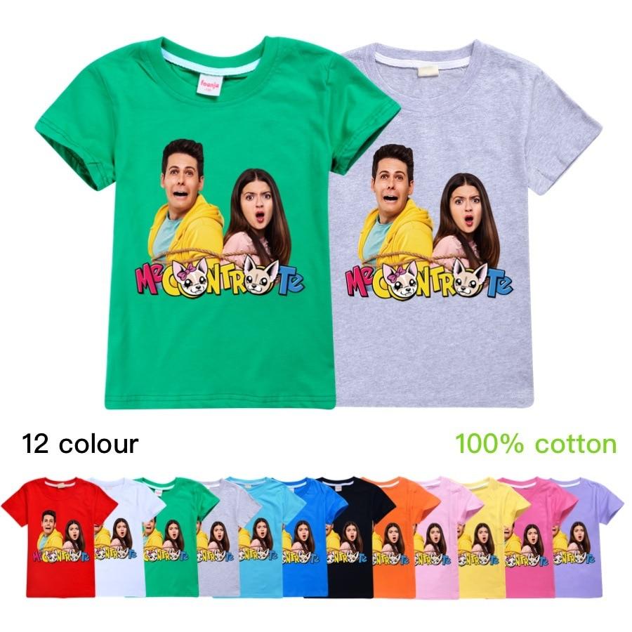 Novedad de 2020, ropa de verano de moda Me Contro Te de algodón puro, Tops casuales, camisetas de manga corta para niños y niñas, ropa para niños
