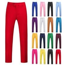 Pantalones de traje para hombre, color marrón, blanco, verde Rosado, Borgoña, amarillo, cielo púrpura, azul, tallas grandes 6XL, pantalones formales para hombre 2020 P34