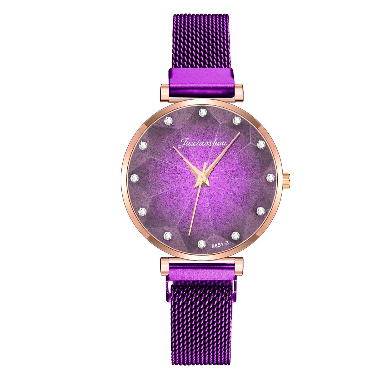 Fashion Women Watches Luxury Quartz Clock Stainless Steel Strap Starry Sky Dial Casual Wristwatch женские часы недорого W1