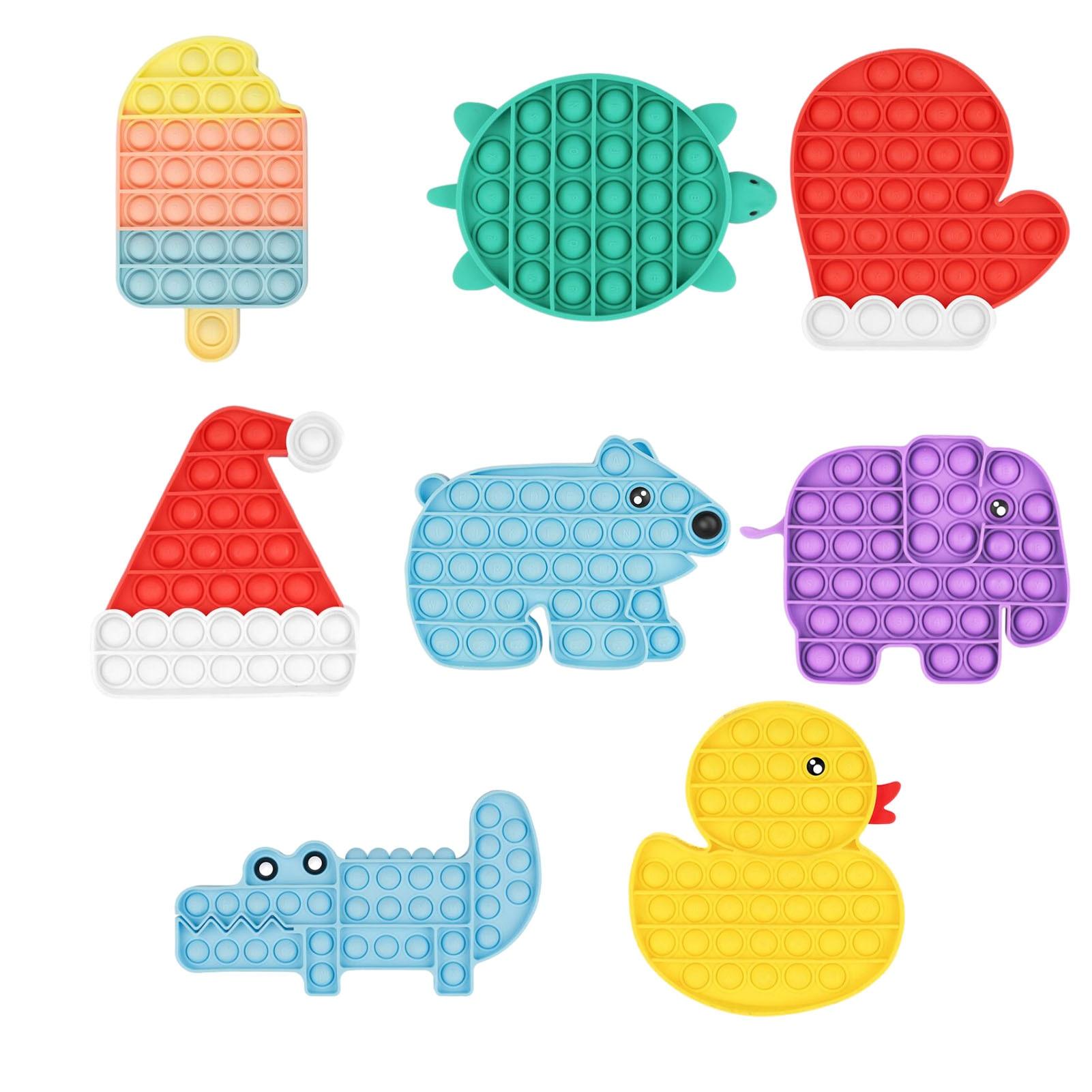 Popit Fidget Toys Sensory Decompression Toy Set Stress Relief Toys Autism Anxiety Squeeze Pop Bubble Fidget Toys For Kids Adults enlarge