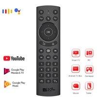Gyroscope vocal intelligent pour maison connectee  Air Mouse G20s Pro  433 Mhz  IR  Google Assistant  pour Android TV  Netflix  telecommande universelle
