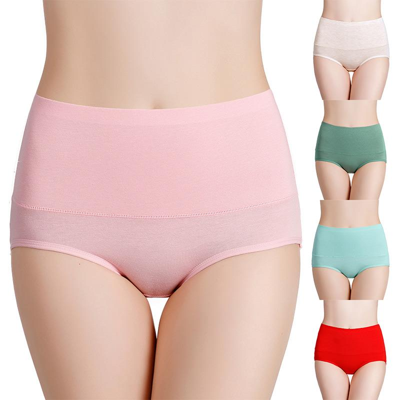 1PC Plus Size Briefs Underwear Panties Hot Sale Female Intimates Breathable High Quanlity Solid Unde
