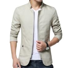 New business casual men's fashion stand-up collar jacket jacket men's jacket men's clothing plus siz
