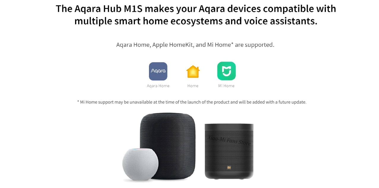 2021 Aqara M1s Hub Gateway Zigbee 3.0 with RGB Led Night Light for Mi Home APP Apple Homekit Aqara Smart App