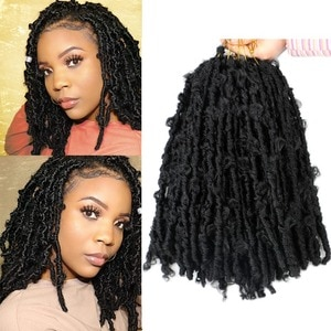 """Saisity 14"""" Ombre Butterfly Locs Passion Twist Braiding Crochet Hair Synthetic Water Wave Afro Kinky Twist Braids Hair Extension"""