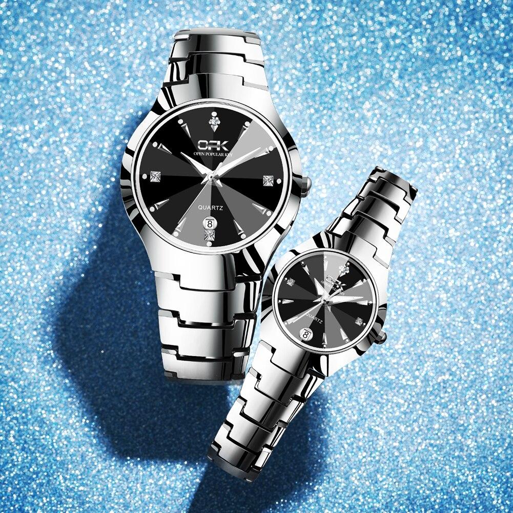 OPK 2021 Lover Watches  High-End Luxury Couple Casual Fashion 30m Waterproof Luminous Quartz Wristwatch Men's and Women's Suit браслет цепь opk 856 ph856