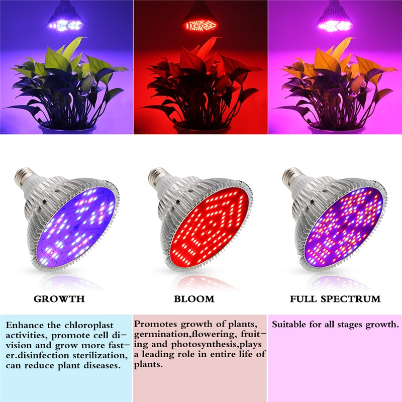 Full Spectrum led grow light bulbs 30W 50W 80W 100W E27 LED Plant Grow Lamp Fitolampy phytolamp For Indoor Hydroponics Grow Tent enlarge