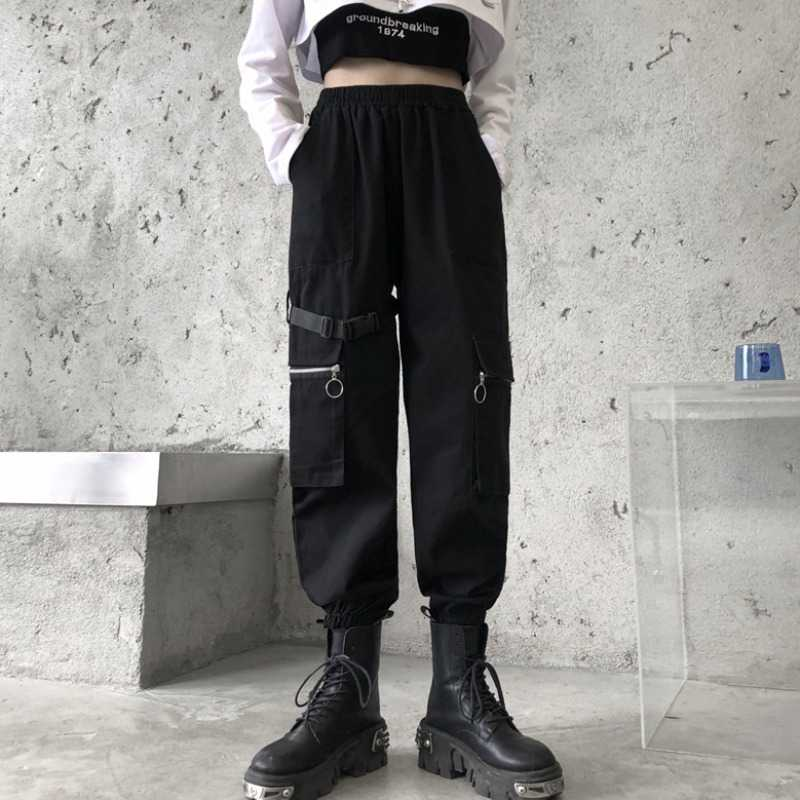 Ankle Banded Working Pants Female Spring New Style Ins Harajuku Style Loose Slimming High Waist All-