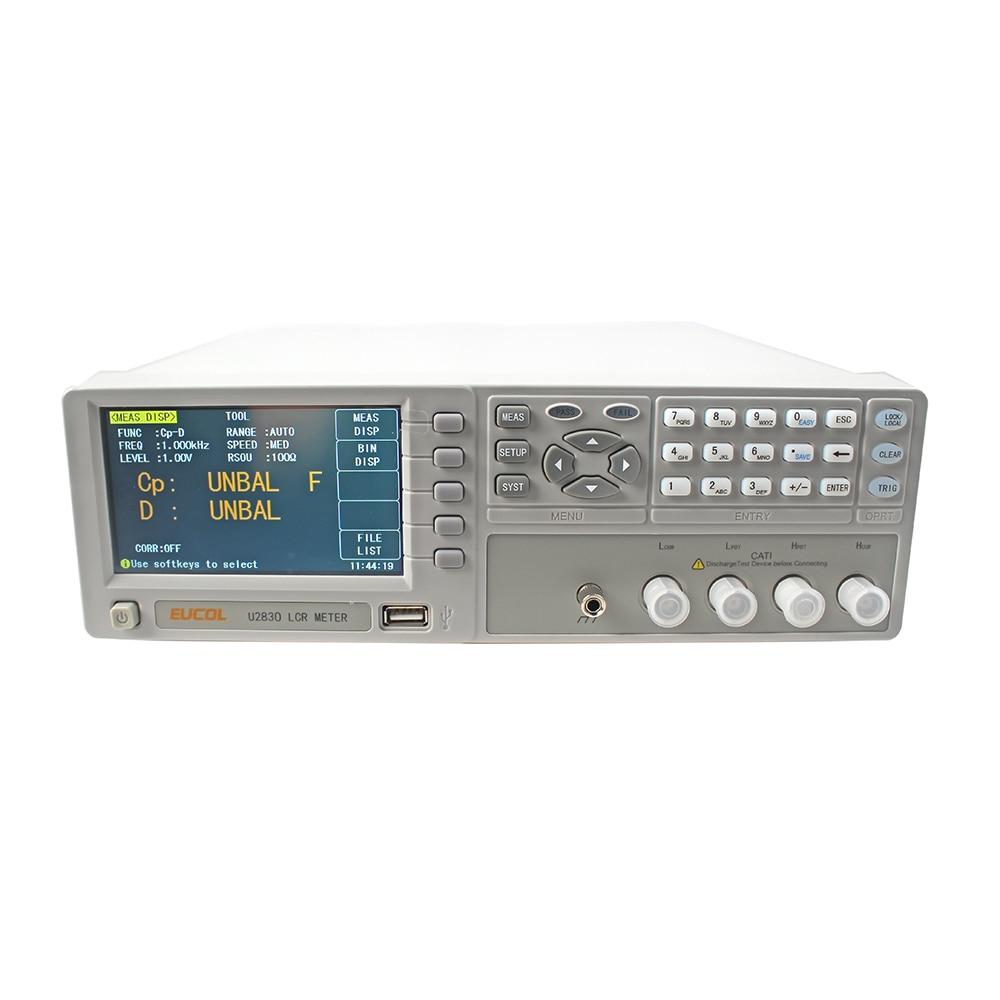 جهاز قياس الدقة LCR 0.05% ، U2830 ، جسر رقمي لقياس تحريض السعة المقاومة
