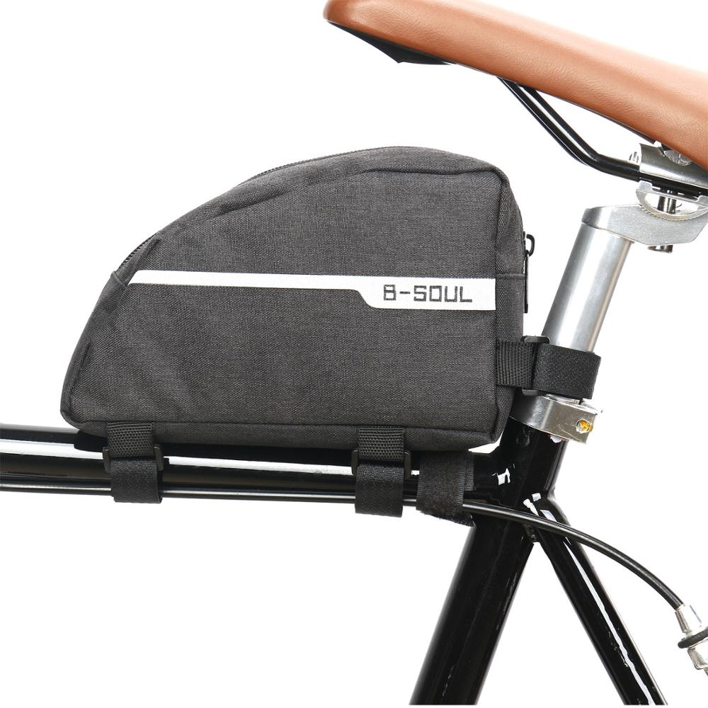 Bicicleta de ciclismo tubo bolsa de cuadro frontal impermeable MTB Carretera triángulo Pannier de doble-capa accesorios de bicicleta bolsas bolsa