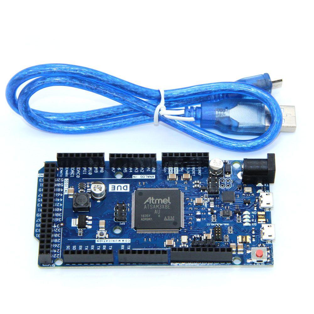 Debido 2012 placa R3 AT91SAM3X8E brazo 32 Bit con conjunto de Cable de datos