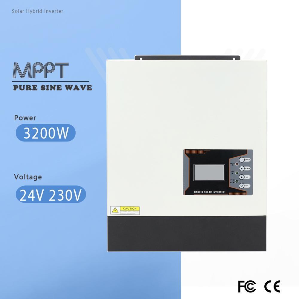 3200VA الشمسية الهجين العاكس 24 فولت 48 فولت 230VAC MPPT نقية شرط موجة الشمسية Inversor ماكس 80A التيار المتناوب شحن الحالي 50 هرتز الناتج تردد