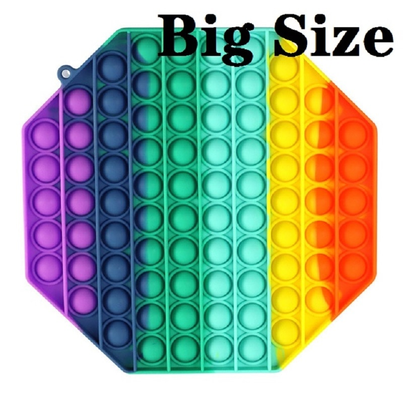 Big Size HOT Popits Push Bubble Fidget Toys Stress Relief Toy Antistress Poppits Soft Squishy Antistress Kids Adult Girl Gift enlarge