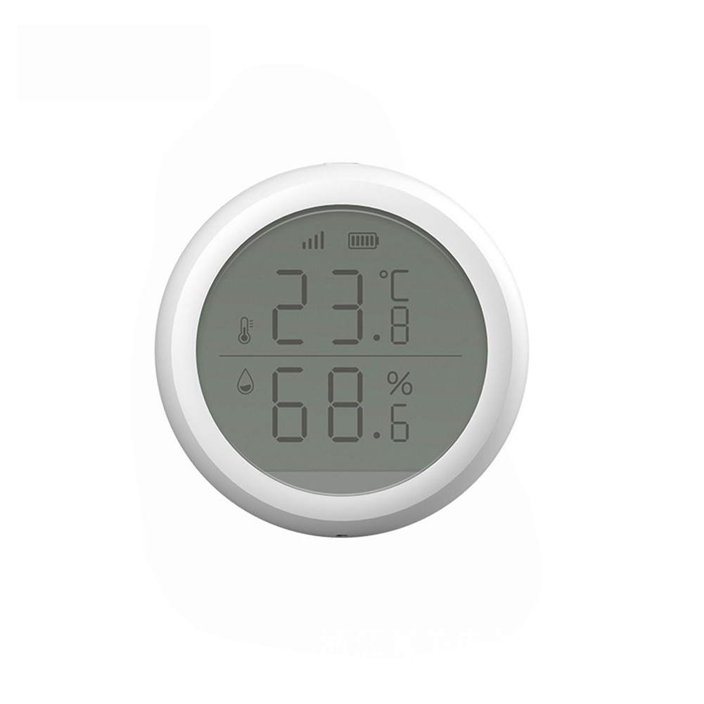 Temperature Humidity Sensor Multifunction Easy Operate With LCD Display Indoor Battery Powered Wireless Building Automation WIFI